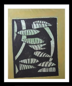 """""""Peces blancos """" original  neo-expressionist mixed media acrylic canvas painting"""