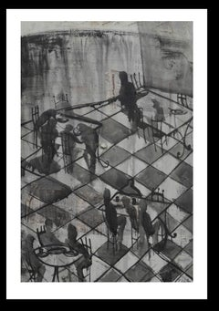 """Sa cova dels asses- original neo-expresionist acrylic painting"