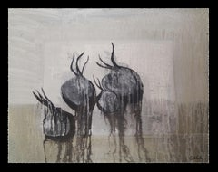Cebes negres- original neo-expressionist mixed media painting