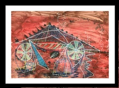 Circus- original neo-expressionist acrylic painting