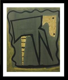 Fondo gris- original abstract acrylic painting