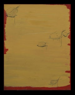 Oropimente yellows- original. neo-expressionist tacrylic painting