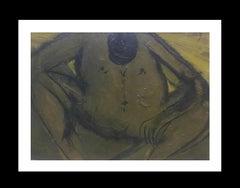 Pensamiento original neo figurative acrylic painting