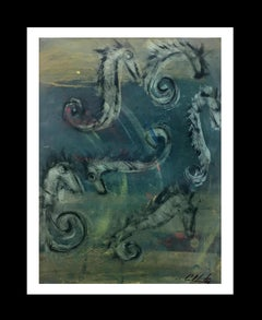 Sea Horse- original neo-expressionist acrylic painting