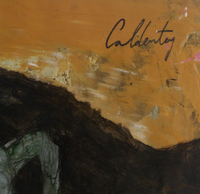 serie Mallorca original neo figurative watercolor paper painting - Neo-Expressionist Painting by Toni CALDENTEY