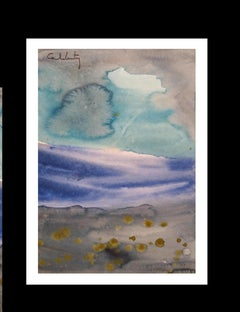 serie Mallorca original neo figurative watercolor paper painting