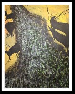 Tardor y Negre original neo-expressionist acrylic painting