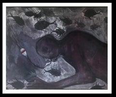 Tuta- original neo-expressionist acrylic canvas painting