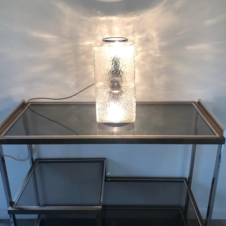 Toni Zuccheri by VeArt Murano Glass 1970s Italian Design of Table Lamp In Good Condition For Sale In Rome, IT