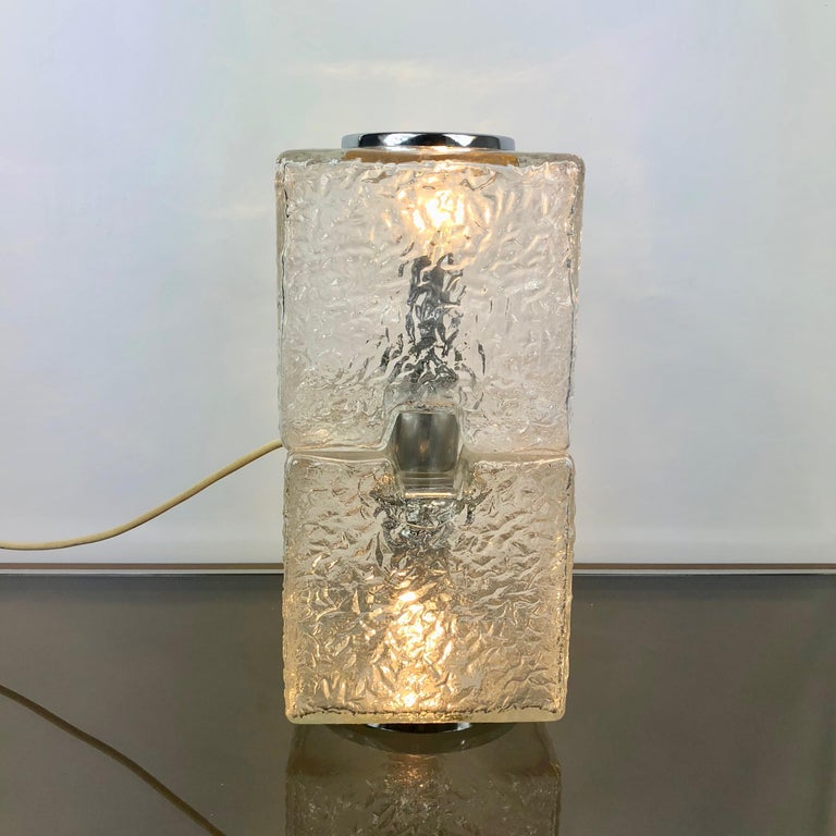 Toni Zuccheri by VeArt Murano Glass 1970s Italian Design of Table Lamp For Sale 1