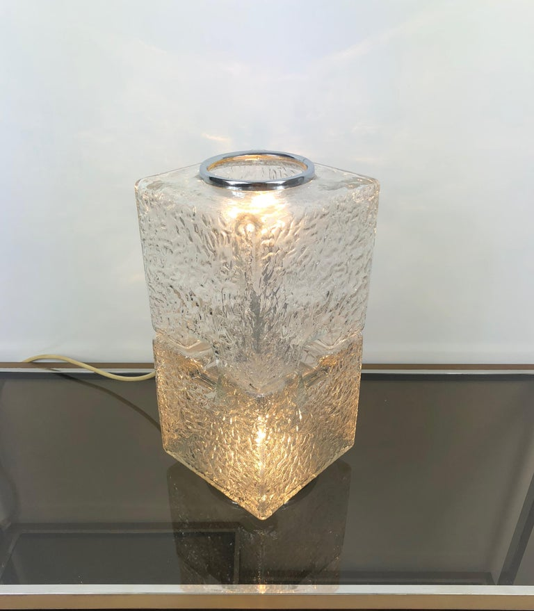 Toni Zuccheri by VeArt Murano Glass 1970s Italian Design of Table Lamp For Sale 2