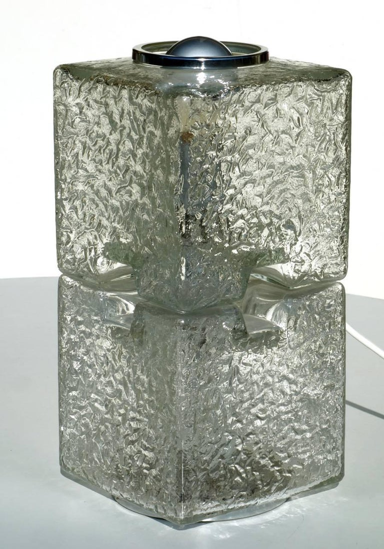 Late 20th Century Toni Zuccheri by VeArt Murano Glass 1970s Italian Design Pair of Table Lamps For Sale