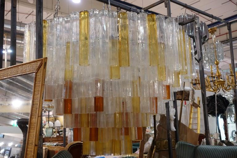 Late 20th Century Toni Zuccheri Chandelier for Venini For Sale