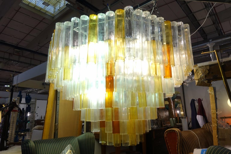 Glass Toni Zuccheri Chandelier for Venini For Sale