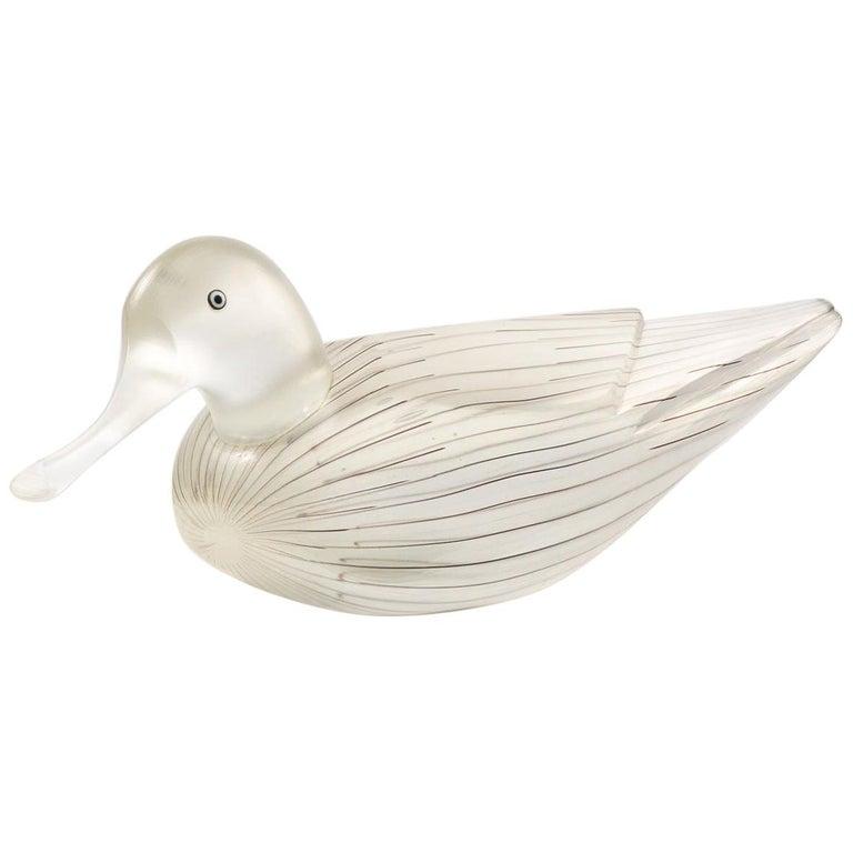 "Toni Zuccheri for Venini ""Anatra"" Sculpture, Figure of a Female Duck For Sale"