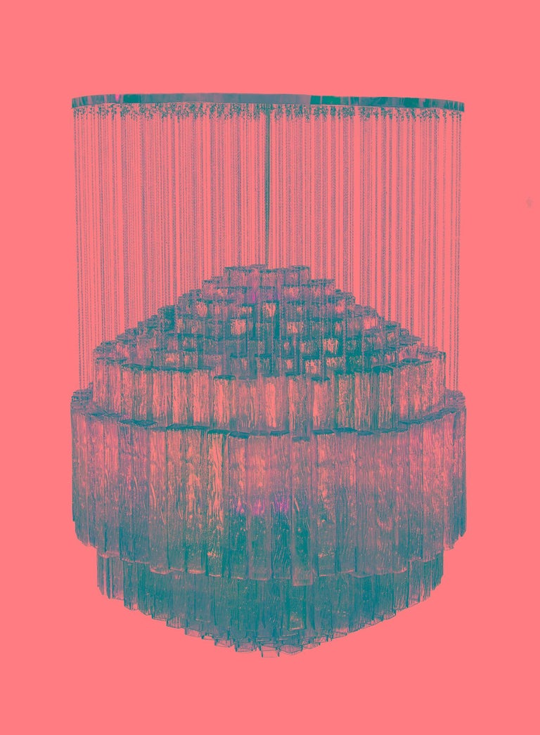 Toni Zuccheri for Venini Chandelier For Sale 3