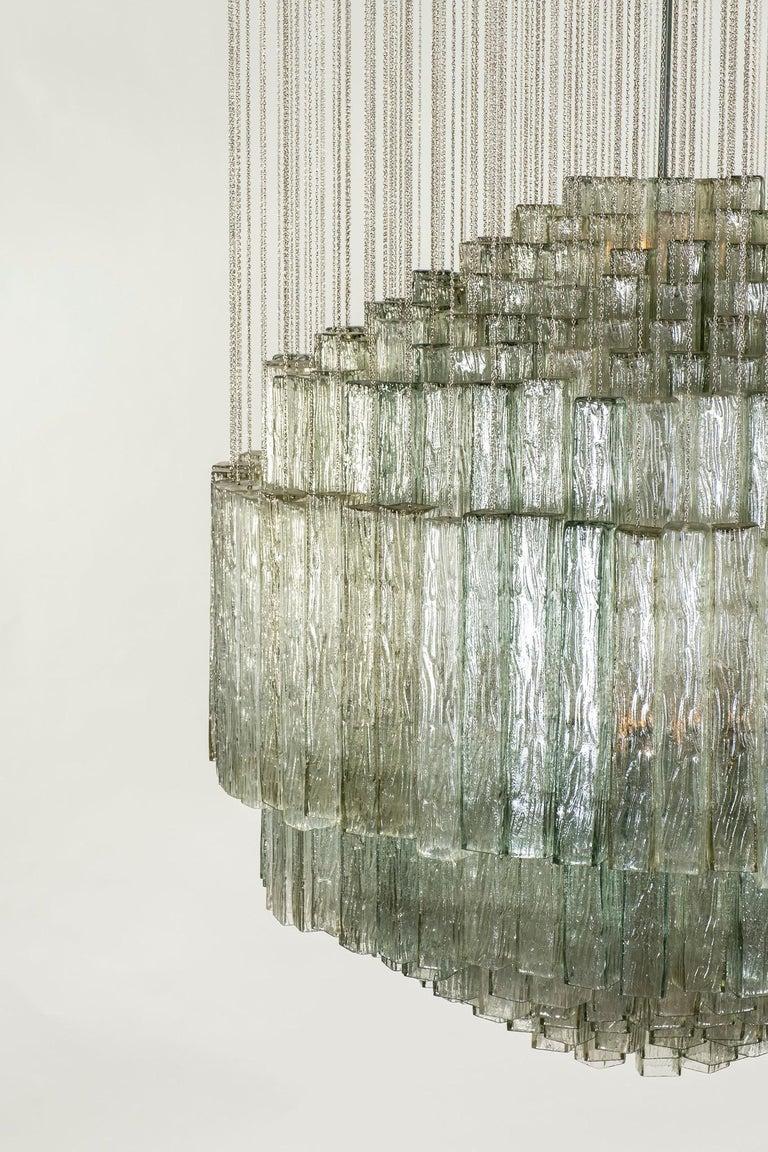 Italian Toni Zuccheri for Venini Chandelier For Sale