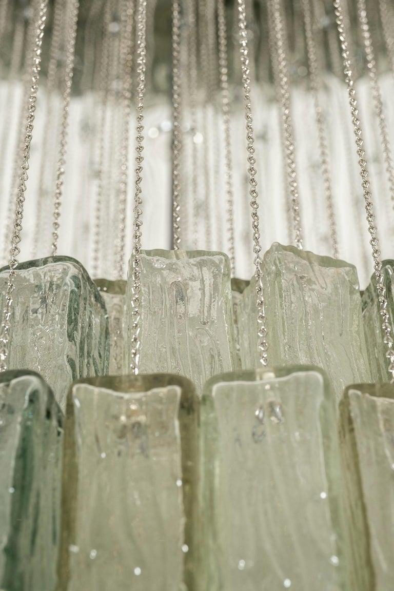 Blown Glass Toni Zuccheri for Venini Chandelier For Sale
