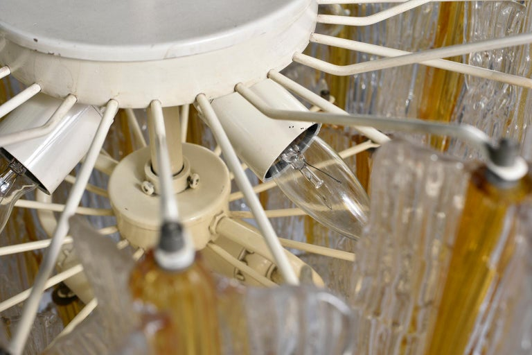 20th Century Toni Zuccheri for Venini Chandelier in Two-Toned Glass For Sale