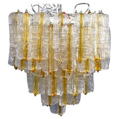 Toni Zuccheri for Venini Chandelier in Two-Toned Glass
