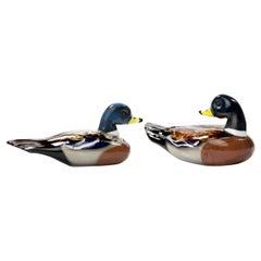 """Toni Zuccheri for Venini Murano Couple of Ducks """"Anatre"""" Glass Sculpture"""
