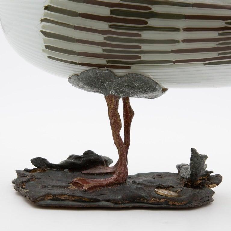 Italian Toni Zuccheri for Venini Murano Seagull Mouth Blown Glass Bird Sculpture For Sale