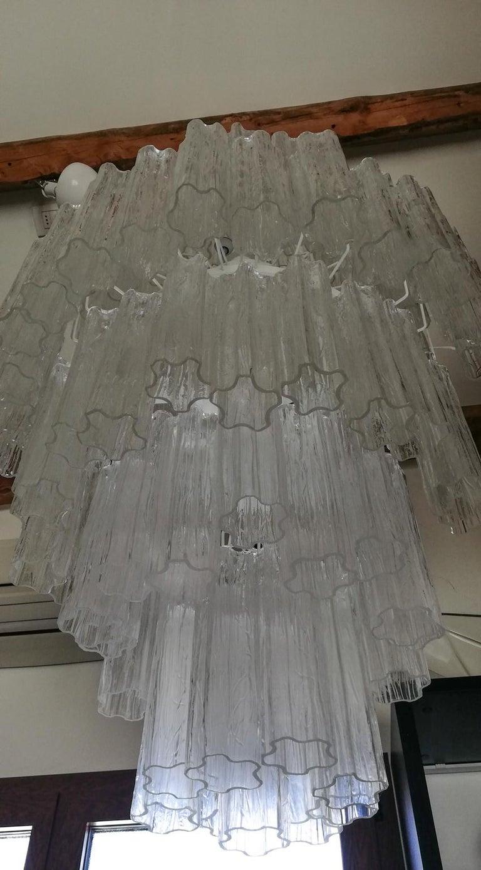 Toni Zuccheri Mid-Century Modern Crystal Murano Glass Chandelier for Venini 1980 In Excellent Condition For Sale In Murano, Venezia