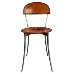 Tonietta Leather Side Chair by Enzo Mari for Zanotta
