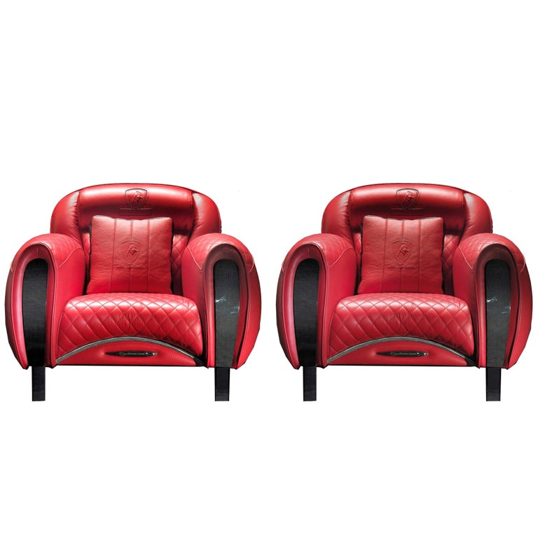 Lamborghini Furniture: Tonino Lamborghini Carbon Imola Leather Armchair By