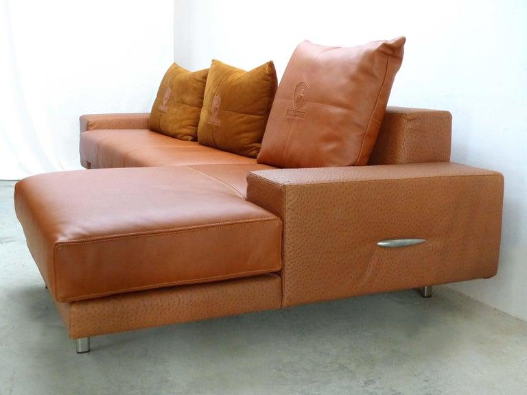 Tonino Lamborghini Sectional Leather Sofa in Camel Color