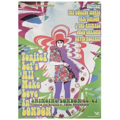 """Tonite Let's All Make Love in London"" 1995 Japanese B5 Chirashi Flyer"
