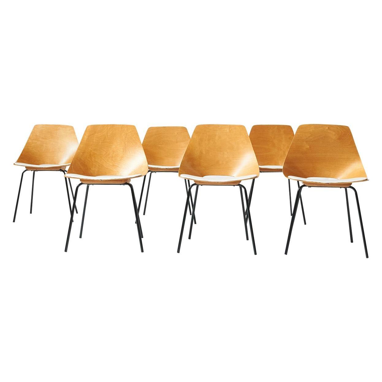 """'Tonneau"""" Chairs by Pierre Guariche"""