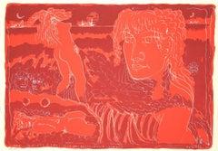 Girls - Original Etching by Tono Zancanaro - 1962