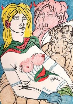 Policoro - Original Lithograph by T. Zancanaro - 1981