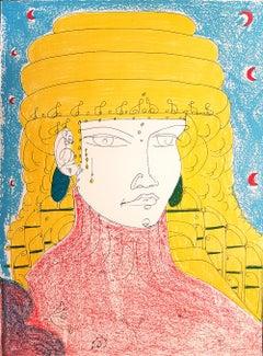 Poppea - Original Lithograph by T. Zancanaro - 1981