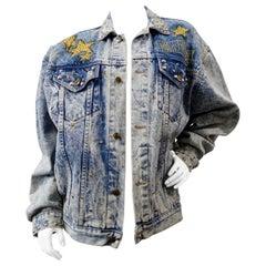 """Tony Alamo """"Hollywood"""" Rhinestone Embellished Jean Jacket"""