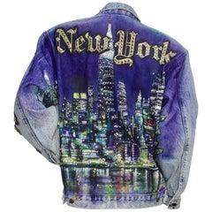"""Tony Alamo """"New York"""" Rhinestone Embellished Jean Jacket"""