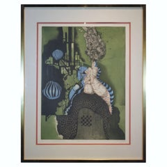 """""""Machine"""" Contemporary Abstract Surrealist Print, Edition 3"""