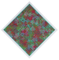 Shandaken, Geometric Abstract Silkscreen by Tony Bechara