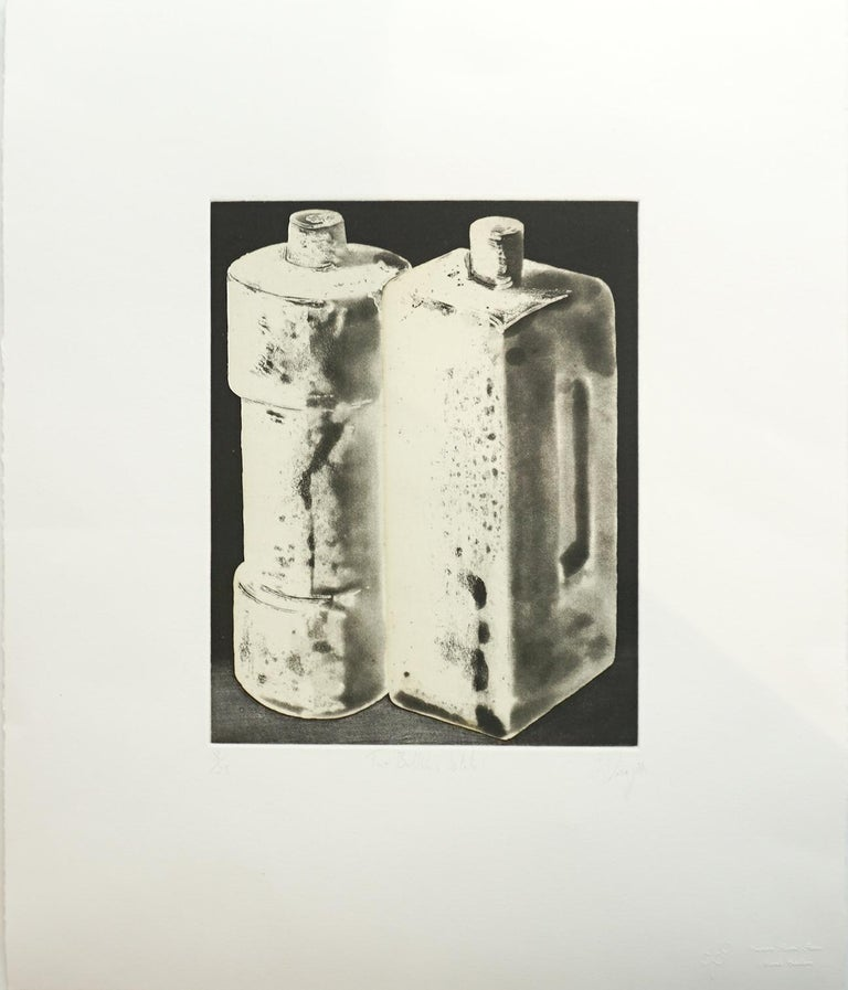 Tony Cragg Still-Life Print - TWO BOTTLES, STATE 1