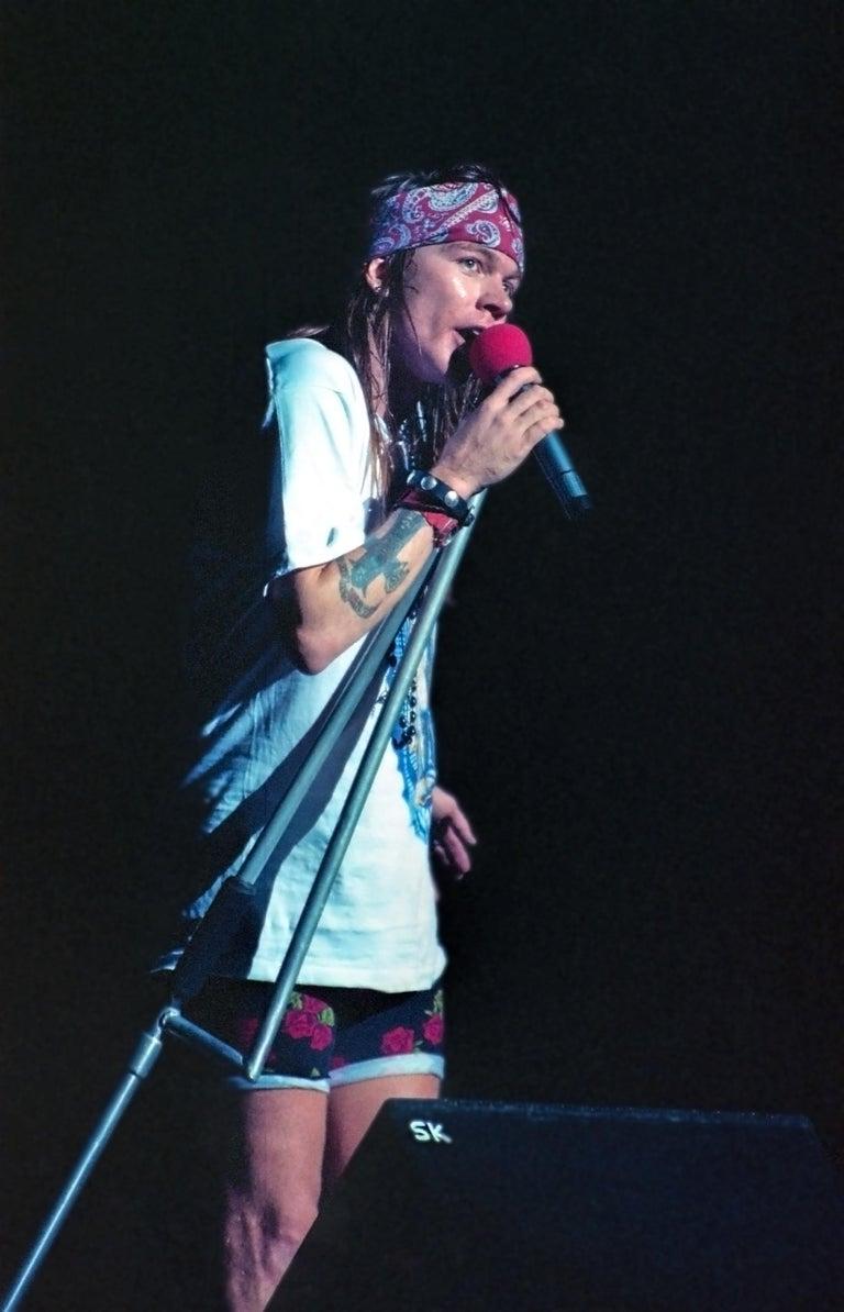Axl Rose of Guns N' Roses Singing Fine Art Print
