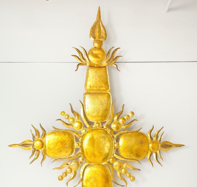 Mid-Century Modern Tony Duquette Iconic 1980s Golden Sculpture For Sale
