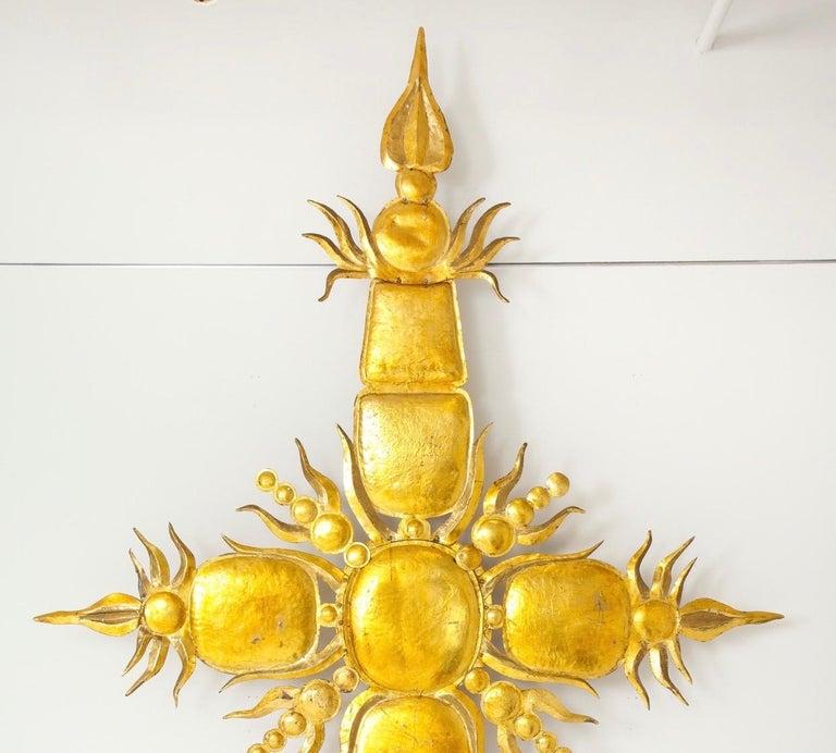American Tony Duquette Iconic 1980s Golden Sculpture For Sale