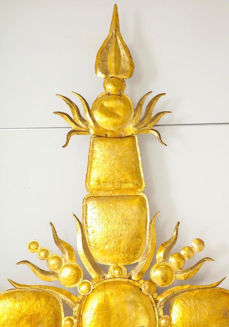 Aluminum Tony Duquette Iconic 1980s Golden Sculpture For Sale