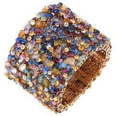Tony Duquette Multi Color Sapphire Bracelet