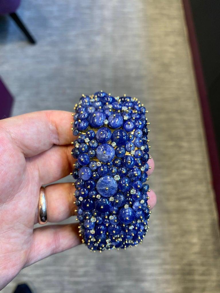 Women's Tony Duquette Sapphire and Diamond Bead Bracelet For Sale