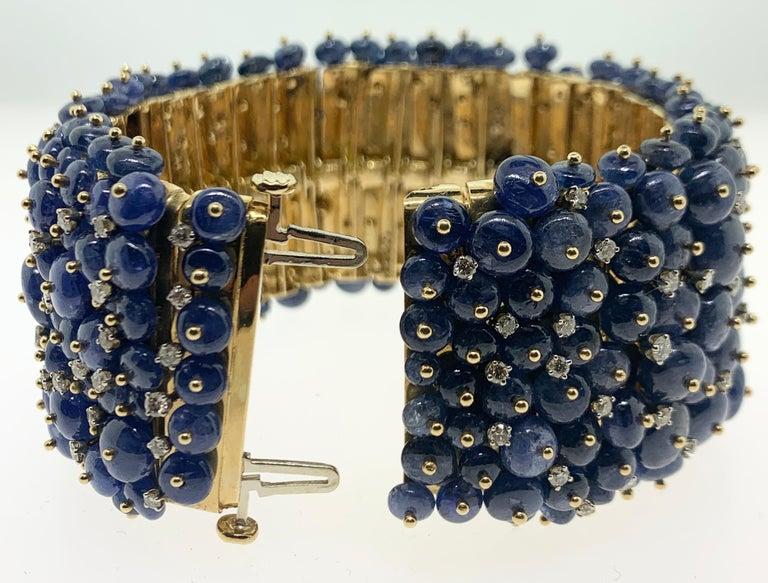 Tony Duquette Sapphire and Diamond Bead Bracelet For Sale 1