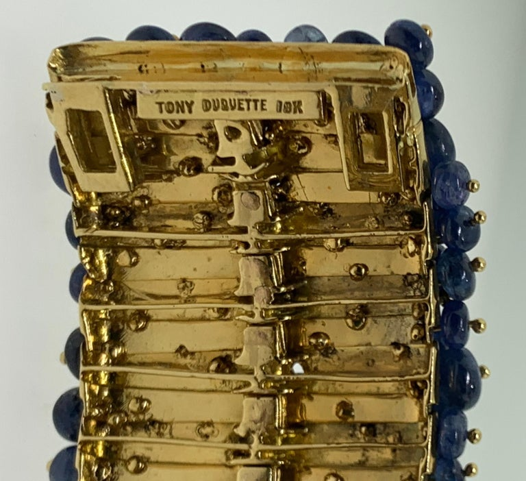 Tony Duquette Sapphire and Diamond Bead Bracelet For Sale 2