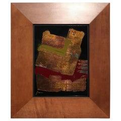 Tony Evans Metallic on Glass Painting with Custom Frame
