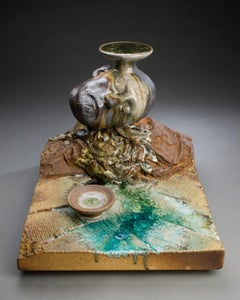 Ceramic wood-fired sculpture: 'Earth And Sky '